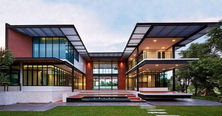 Ilustrasi Arsitektur Modern Glass