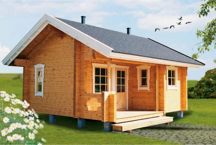 Ilustrasi Rumah Kayu Minimalis