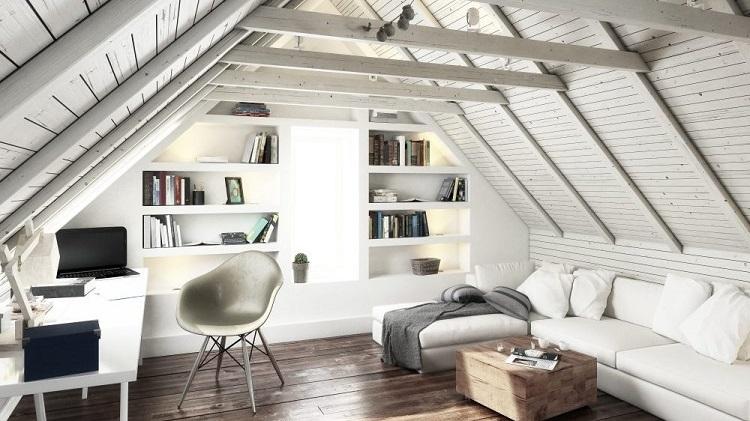 Ruang kerja di loteng, Sumber : houseopedia.com