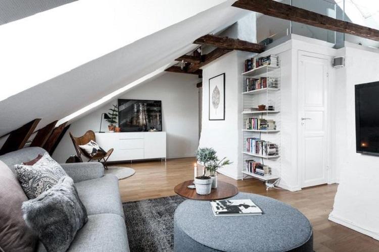 Ruang tv di loteng, Sumber : decorobject.com